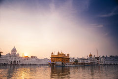 Golden Temple at sunset, Amritsar Stock Images
