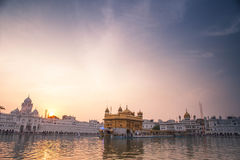 Golden Temple at sunset, Amritsar Stock Photography