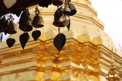 Wat Phra That Doi Kham Temple of the Golden Mountain - Thailand. The Golden temple and the Thai decoration details. A culture full of color and symbolism Royalty Free Stock Image