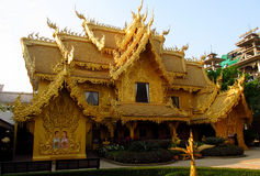 Golden temple in Thailand Royalty Free Stock Photography