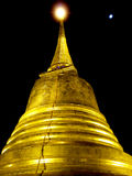 Golden temple of Thailand at night Stock Image