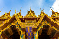 GOLDEN TEMPLE. This is temple in Thailand. Wat ta sung Stock Photography