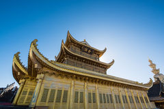 A golden temple at the top of the Emei Mountain Royalty Free Stock Photos