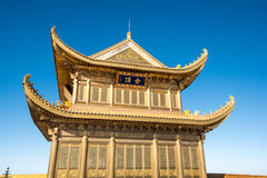 A golden temple at the top of the Emei Mountain Royalty Free Stock Photography