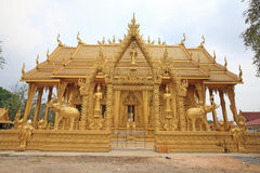 Golden temple of Wat Pak Nam Royalty Free Stock Photography