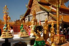 Golden temple Wat phra That in Doi Suthep, Chiang Mai, Thailand