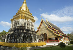 Golden Temples in Chiangmai Stock Photo