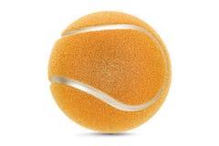 Golden tennis ball, 3D rendering Stock Images