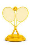 Golden Tennis Trophy Royalty Free Stock Images