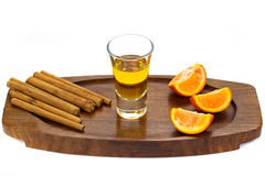 Golden tequila Stock Photography