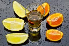 Golden tequila choice Stock Photos