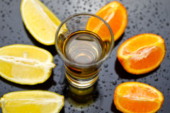 Golden tequila choice Royalty Free Stock Image