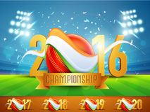 Golden text for Cricket Championship concept. Stock Photography