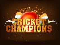 Golden text for Cricket Sports concept. Royalty Free Stock Photos