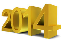 2014 golden text Royalty Free Stock Images