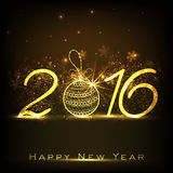 Golden text for Happy New Year 2016. Stock Images