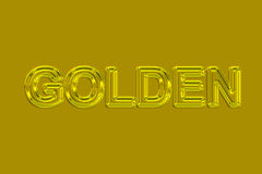 Golden (Text serie) Royalty Free Stock Photography