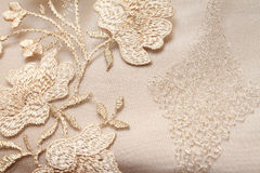 Golden textile Stock Images