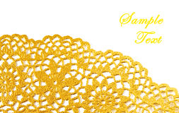 Golden textile border. With copy space stock images