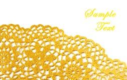 Golden textile border Stock Images