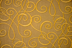 Golden textile pattern Royalty Free Stock Photography