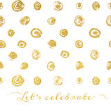 Golden texture background with hand drawn dots. Vector illustration. EPS 10 royalty free illustration