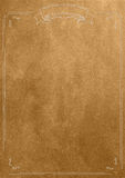 Golden texture blank paper background with retro border Stock Images