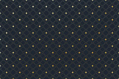 Golden texture. Geometric edged pattern with connected lines and dots. Lines plexus circles. Graphic background Stock Photo