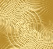 Golden texture with overlapping fine spiral shapes, decorative metallic texture. Vector eps10 stock illustration