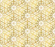 Golden texture. Seamless geometric pattern. Stock Photos