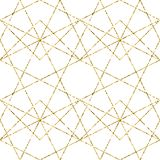 Golden texture. Seamless geometric pattern. Golden background. Vector seamless pattern. Geometric background with rhombus and royalty free illustration
