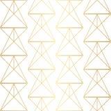 Golden texture. Seamless geometric pattern. Golden background. G Stock Photography