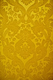 Vintage golden wallpaper. Golden Turkish wall wallpaper with floral design Royalty Free Stock Images