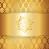Golden textured background Stock Images