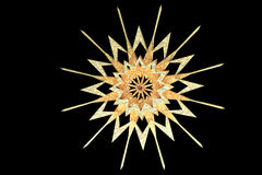 Golden textured snowflake Royalty Free Stock Photo