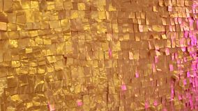 Golden textured wall stock video