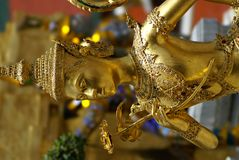 Golden Thai Angel Statue Stock Image