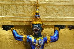 Golden Thai Angel Statue Royalty Free Stock Photography
