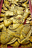 Golden thai art Royalty Free Stock Photo