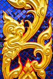 Golden Thai Art Stock Photo