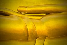 Golden Thai Buddha Face stock images