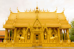 Golden Thai Chapel. Royalty Free Stock Images