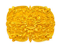 Golden Thai decorative pattern molding Stock Photography