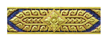 Golden Thai decorative pattern on white background Royalty Free Stock Photo