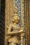 Golden Thai demon in Temple Royalty Free Stock Images