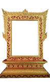 Golden Thai frame isolated Royalty Free Stock Photography