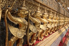 Golden Thai garuda Royalty Free Stock Photos