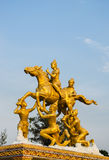 Golden thai god sculpture Royalty Free Stock Photo