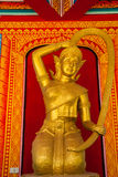 Golden thai goddess Stock Images