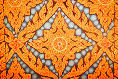 Golden thai painting. Golden painting by handmade in thailand Stock Photography